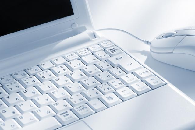 ホームページを作るパソコン